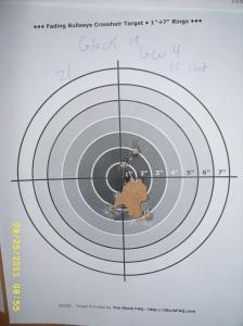 Glock G19 Gen4 Target - 15 shots at 7 yards